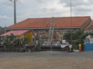 Det konstnärligt målade huset uppe i kopparstaden