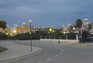 En del av området, där vi tog vår kvällspromenad