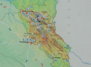 Kartan, som går att förstora, visar på omgivningen här.