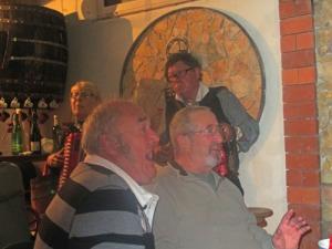 De två franska herrarna var festliga