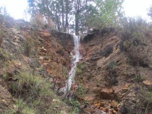 Vattnet tar sig nya vägar efter de intensiva regnen.