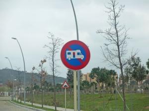 Här stod en förbudsskylt i slutet av gatan. :-)